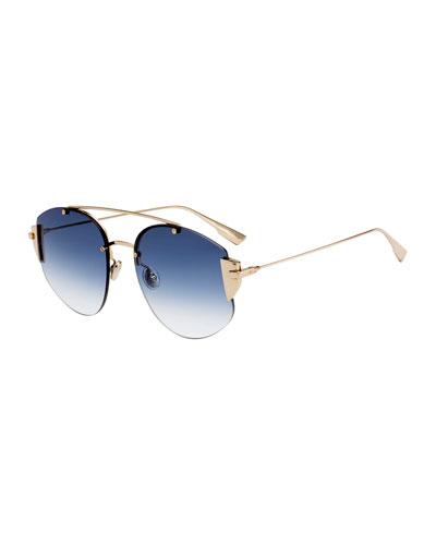 DiorStronger Round Gradient Sunglasses