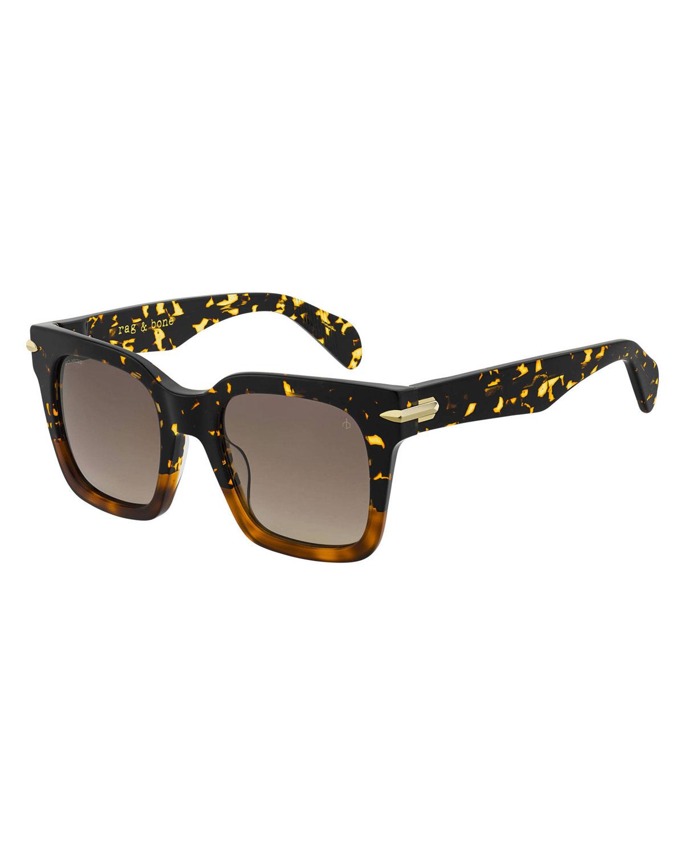 Rag & Bone Sunglasses Square Acetate Sunglasses