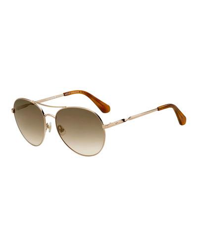 joshelles aviator twist-arm sunglasses