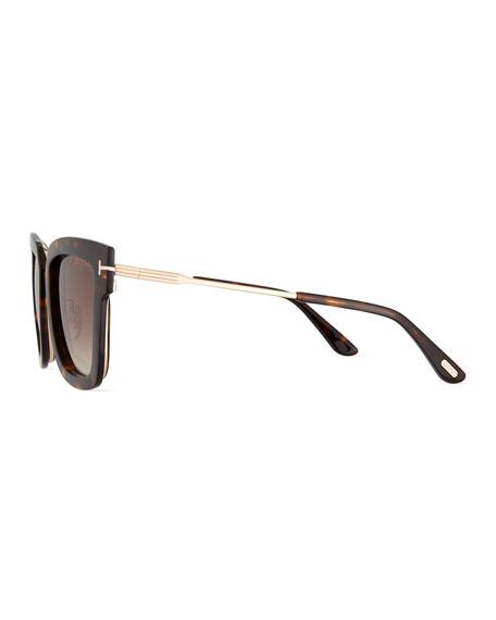 225936e59c TOM FORD Lara Acetate   Metal Square Sunglasses