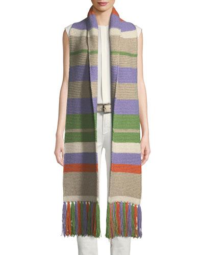 Darlington Multicolored Stripe Knit Scarf