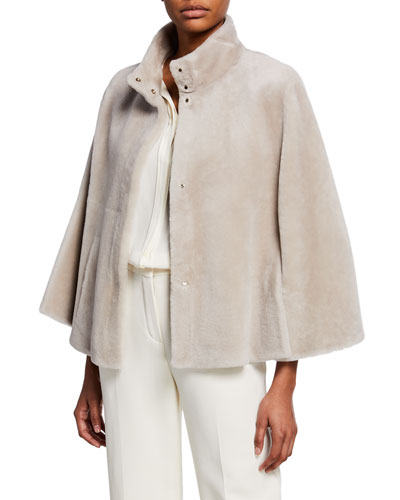 Tilda Silky Shearling Fur Cape