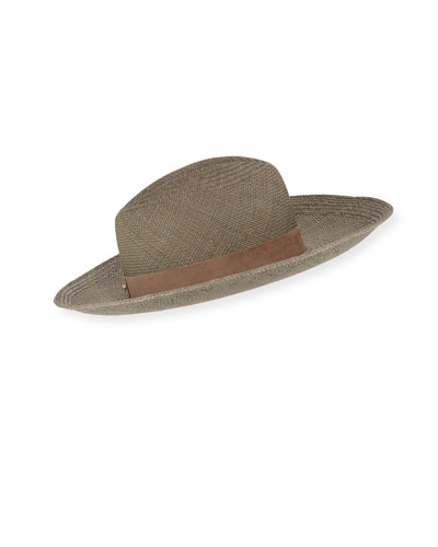 13ebfc71249b1 Angelica Straw Upturn Fedora Hat Quick Look. Janessa Leone