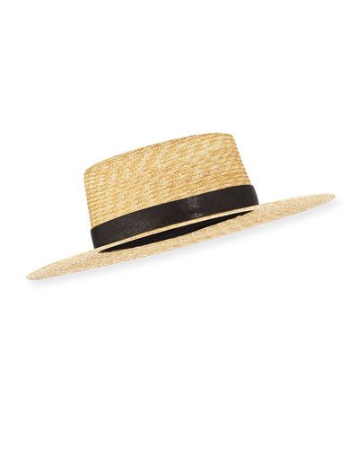 4cbffe4ea45f7 Klint Straw Fedora Hat Quick Look. Janessa Leone