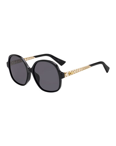 Diorama Cannage-Temple Sunglasses Sunglasses