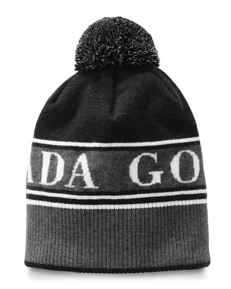 Canada Goose Logo Toque Beanie Hat w/ Pompom