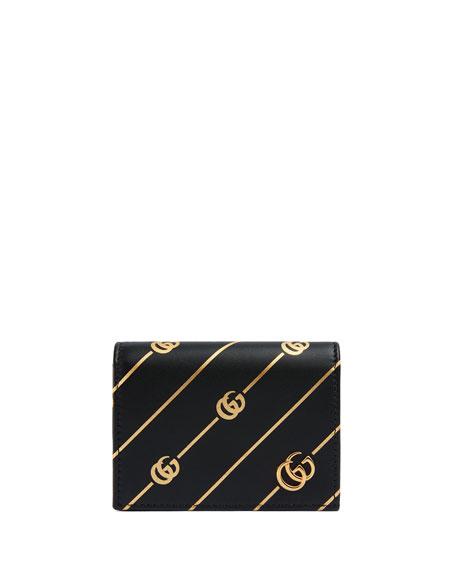 GG Diagonal Flap Card Case