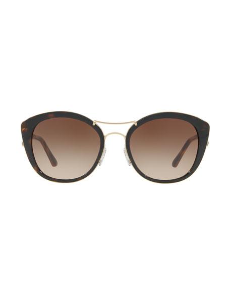 ec61721301d32 Burberry Round Sunglasses with Metal Trim