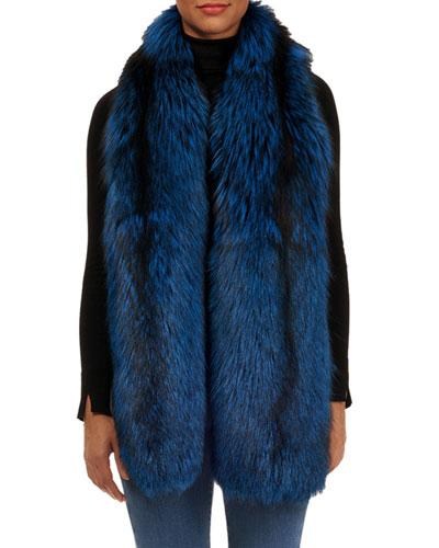 Silver Fox Fur Boa