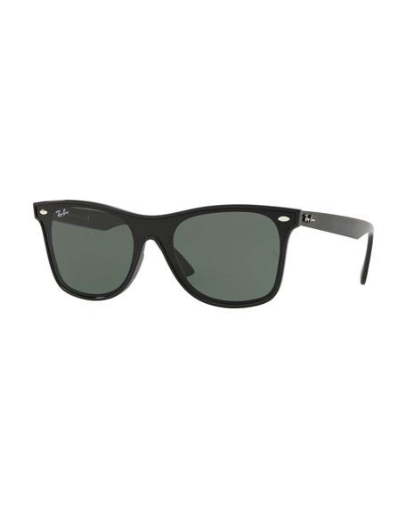 Ray Ban Sunglasses Blaze Wayfarer Lens-Over-Frame Square Sunglasses, BLACK