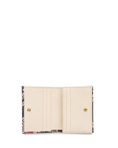 Petite Marmont Colorblock Python Flap Card Case