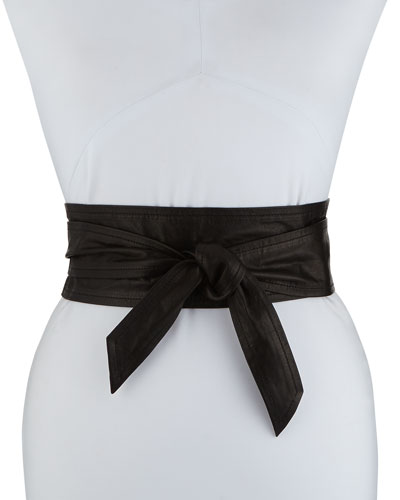 Simply Leather Wrap Belt