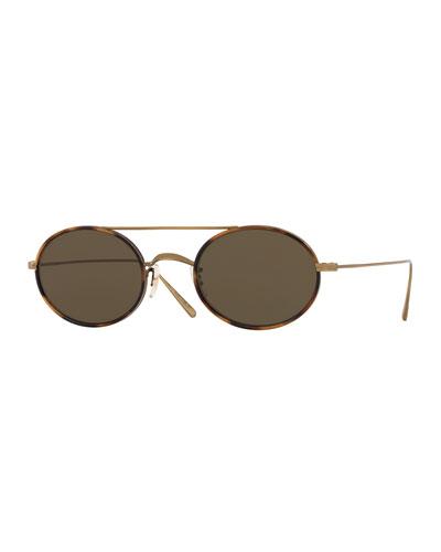 Shai Oval Metal Sunglasses