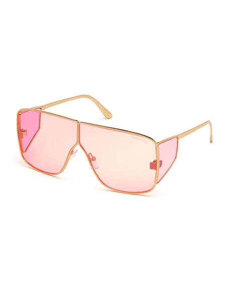 TOM FORD Spector Metal Shield Sunglasses