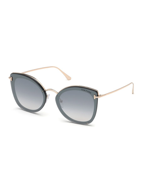 TOM FORD Charlotte Butterfly Lens-Over-Frame Sunglasses