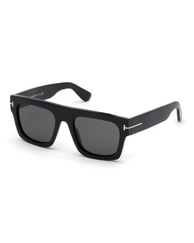 Fausto Monochromatic Square Sunglasses