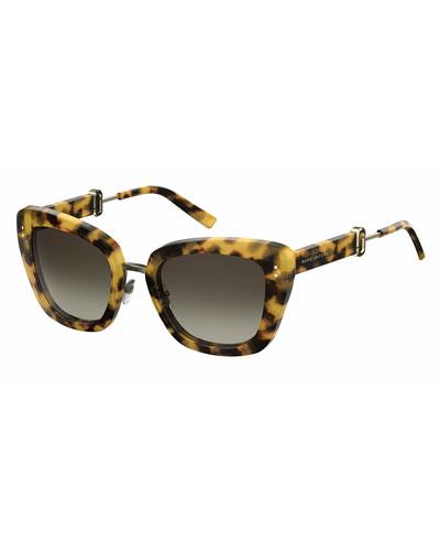 Gradient Acetate Cat-Eye Sunglasses