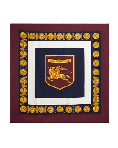 Medallion Border Boxed Silk Scarf