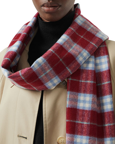 0b44759265ae Burberry Vintage Check Cashmere Scarf