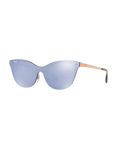 8f69222df1 Ray-Ban Mirrored Shield Cat-Eye Sunglasses
