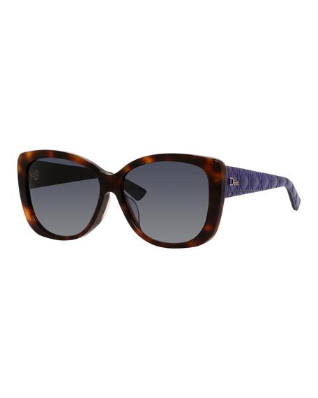 Diorlady2 Square Acetate Sunglasses