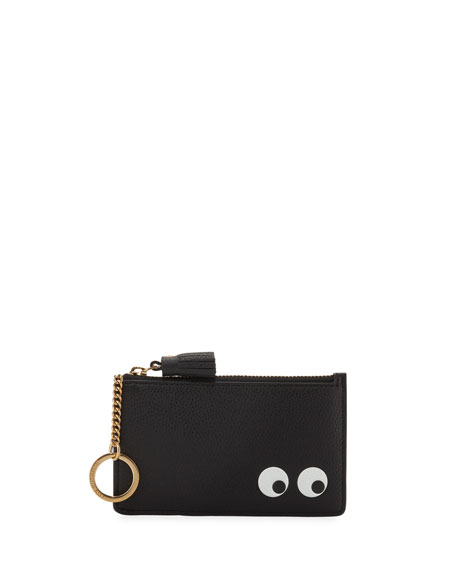 Anya Hindmarch Leather Zip Card Case