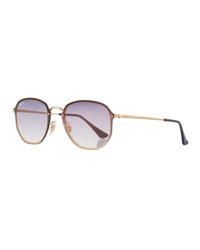 Square Gradient Metal Sunglasses