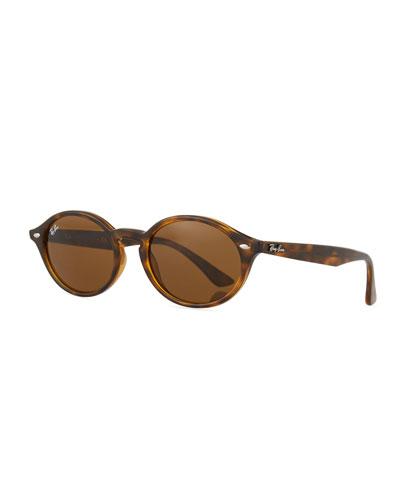 Monochromatic Oval Sunglasses