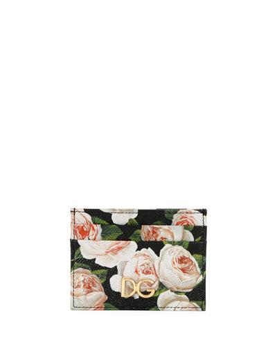 St. Dauphine Rose-Print Card Case