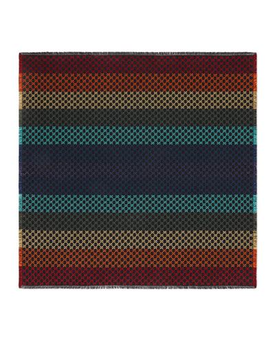 Striped GG Jacquard Shawl