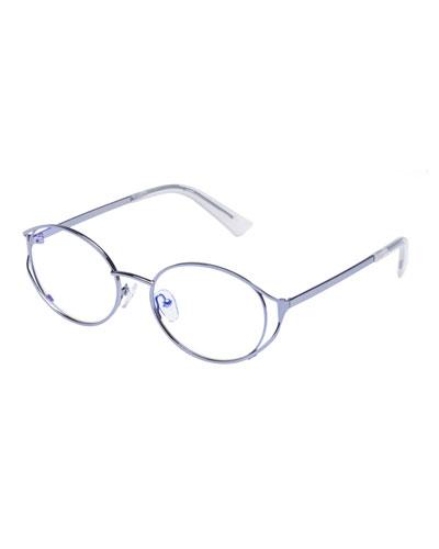 Spatula Oval Blue Block Optical Frames