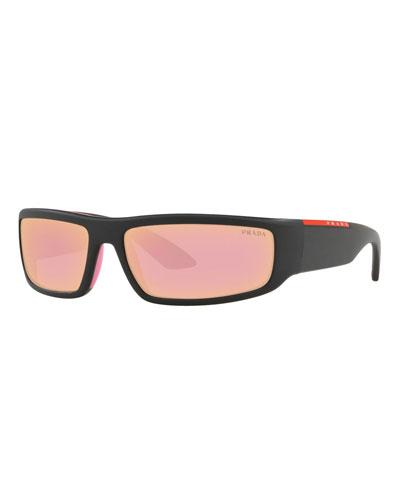 Mirrored Rectangle Sunglasses