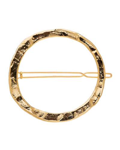 Large Rustic Circle Tige Boule Barrette