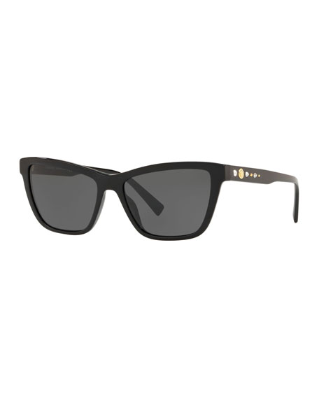 a91279f8b2 Versace Studded Cat-Eye Acetate Sunglasses