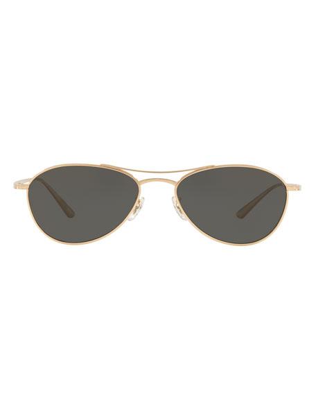 9dda4c9196dd Oliver Peoples The Row Aero L.A. Aviator Sunglasses