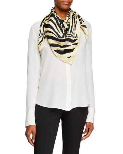 Grouped Zebra Silk Scarf