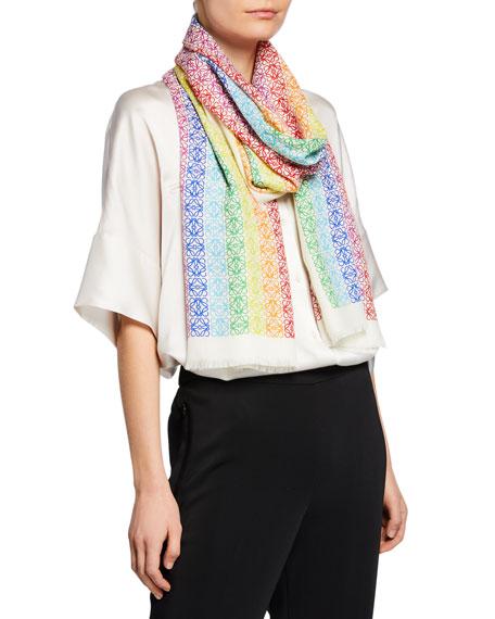 Loewe Rainbow Anagram Scarf