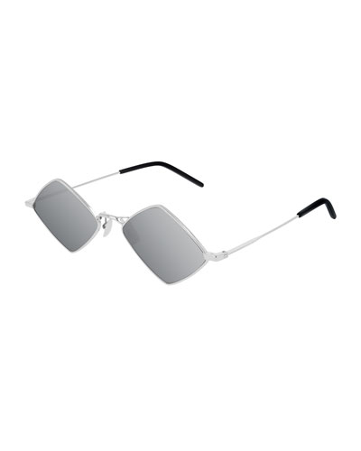 Metal Mirrored Diamond Sunglasses
