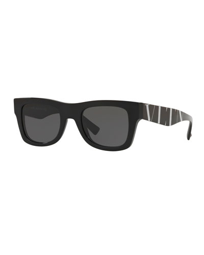 Logo-Arms Square Sunglasses