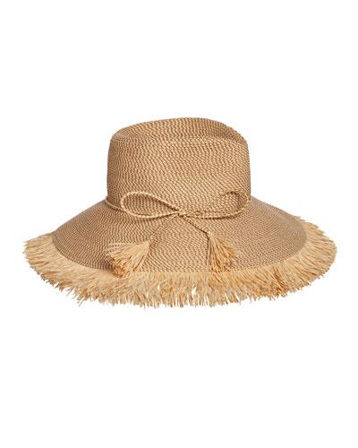 Antigua Woven Raffia Fringe Sun Hat