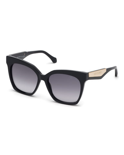 Gradient Rectangle Acetate Sunglasses