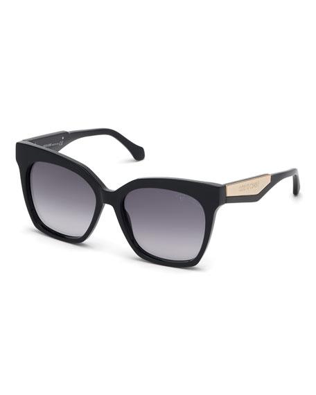 Roberto Cavalli Gradient Rectangle Acetate Sunglasses