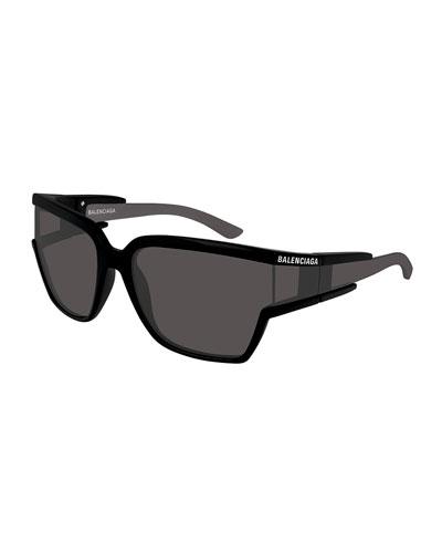 Soft Mask Monochromatic Wrap Square Sunglasses