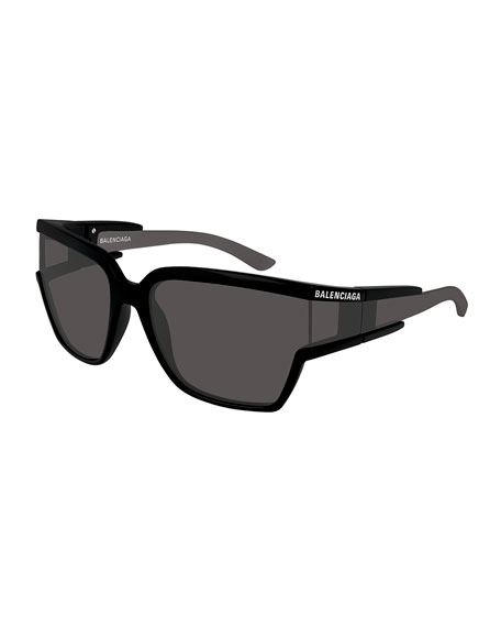 267ecad811 Balenciaga Soft Mask Monochromatic Wrap Square Sunglasses
