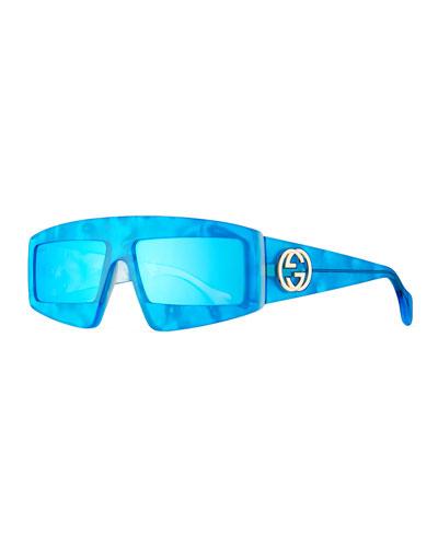 0442657b884e4 Acetate Shield Sunglasses w  Mirrored Lenses Quick Look. Gucci