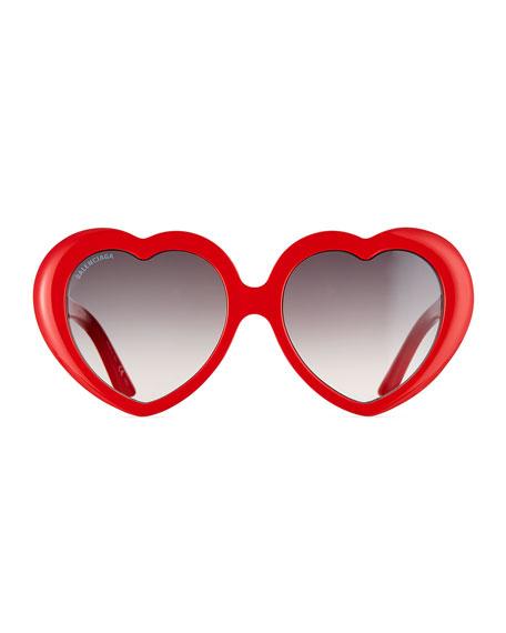 Heart-Shaped Acetate Sunglasses