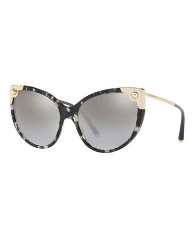 Mirrored Cat-Eye Sunglasses