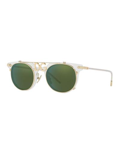 DG-Bridge Round Sunglasses