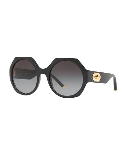 Gradient Octagon Sunglasses