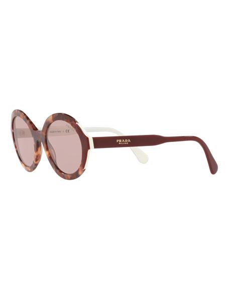 ea50ca601cc3 Prada Oval Acetate Sunglasses